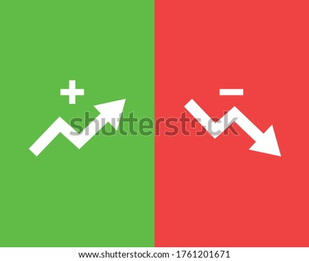 increasing graph and decreasing graph icons Сток-фото ©