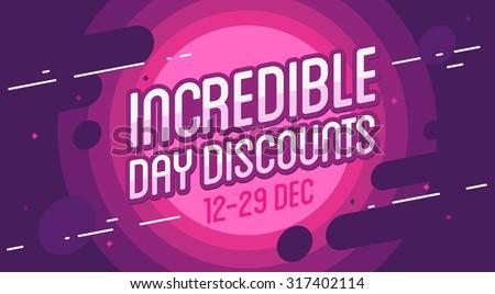 Incredible sale banner. Vector illustration