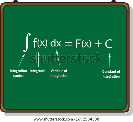 indefinite integral definition on white background. Сток-фото ©