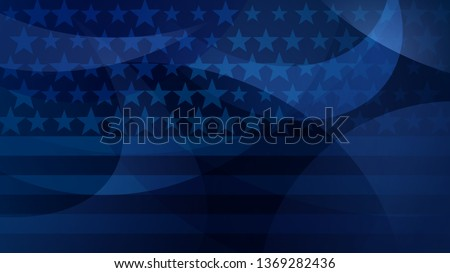 Independence day abstract background with elements of the American flag in dark blue colors Stock photo ©