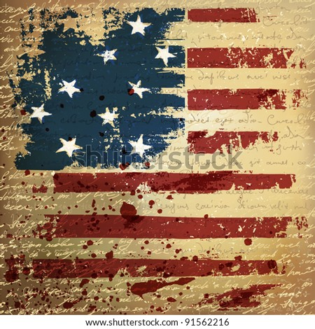 Independence Day Background. Abstract, grunge, vector. - stock vector