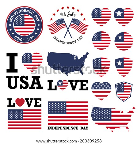 independence day badge and