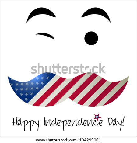 Independence Day card or background. July 4.