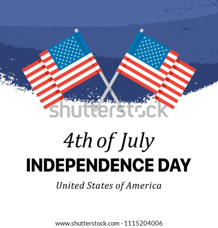 independence day card with two