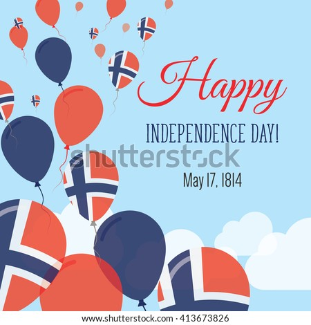 independence day flat greeting