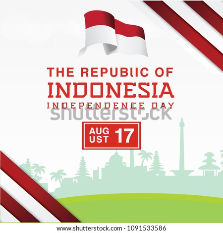 independence day indonesia with
