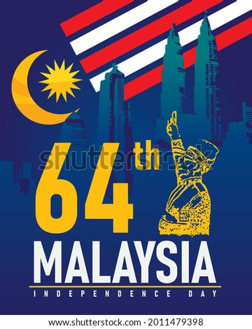"""Independence Day (Malay: Hari Merdeka, also known as Hari Kebangsaan or """"National Day""""), is the official independence day of Federation of Malaya. 2021 is the 64th Malaysia Independnce day."""