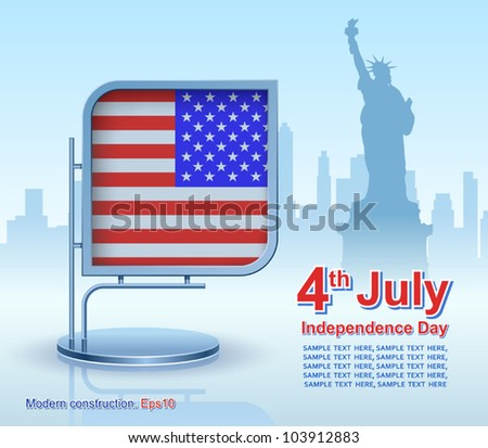 Independence Day, modern construction, vector, design