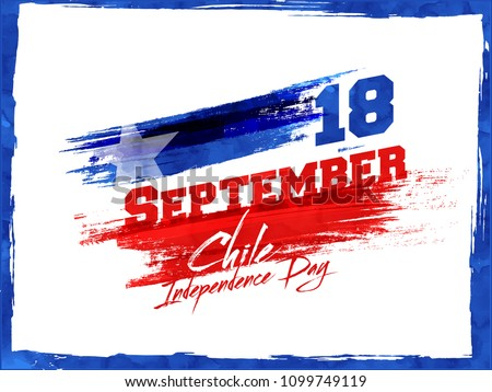Independence Day of Chile Background Design.