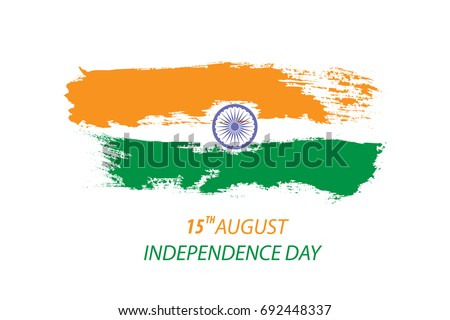 stock-vector-independence-day-of-india-concept-with-date-and-indian-flag-colour