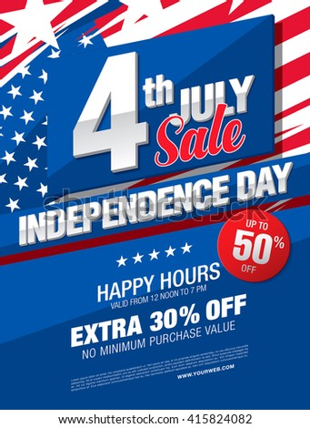 independence day sale banner template design