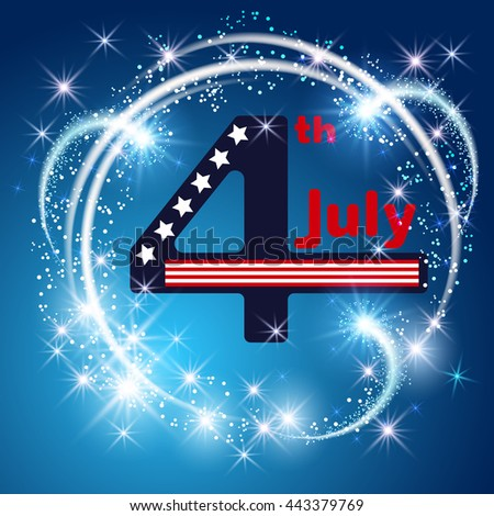 independence day 4 th july with