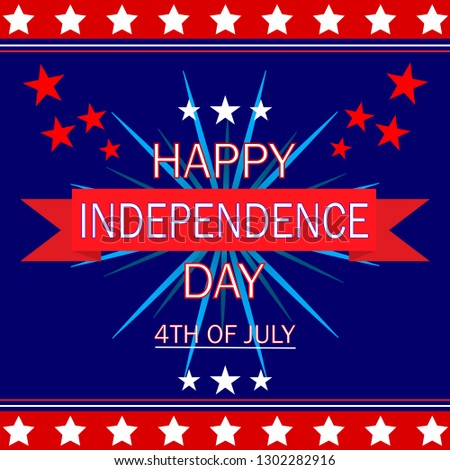 Independence day. 4 th of July. Happy independence day background. #1302282916