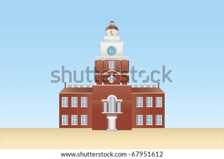 independence hall in Philadelphia ( background on separate layer )