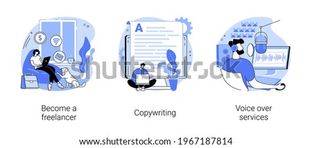 Independent entrepreneur abstract concept vector illustrations. Сток-фото ©