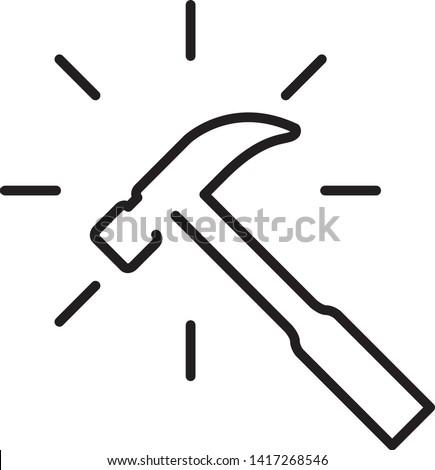 Indestructible icon, vector line illustration Stock photo ©