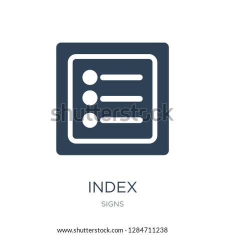 index icon vector on white background, index trendy filled icons from Signs collection, index vector illustration