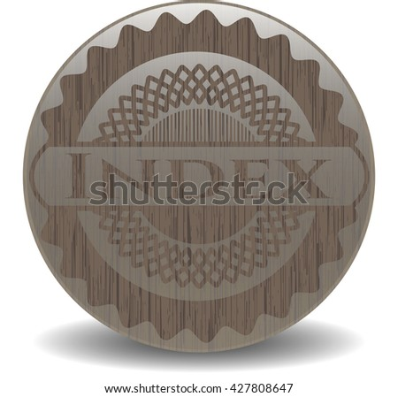 Index vintage wood emblem