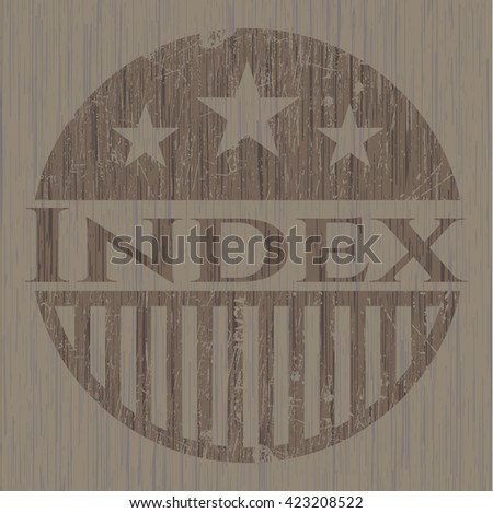 Index wood emblem. Retro
