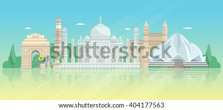 india architectural skyline