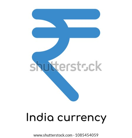 India currency icon isolated on white background for your web and mobile app design, india currency vector logo concept