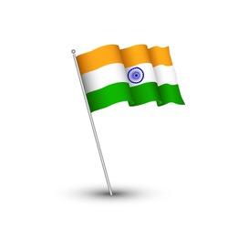 India flag 3D isolated on white background