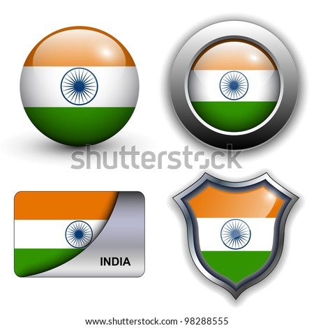 India flag icons theme.