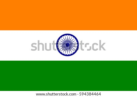 india flag official colors and
