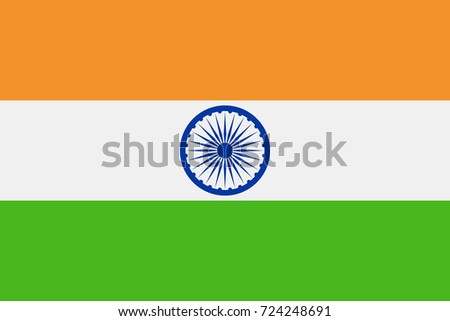 India Flag Vector Icon - Illustration