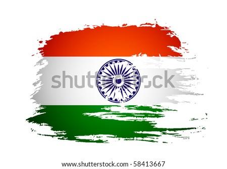 india flag with event original