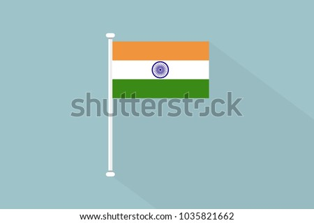 stock-vector-india-flag-with-flagpole-vector-illustration