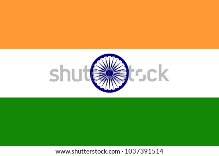 india flag with official colors