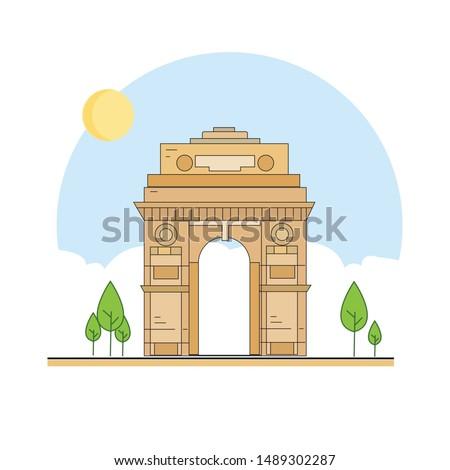 india gate delhi landmark of