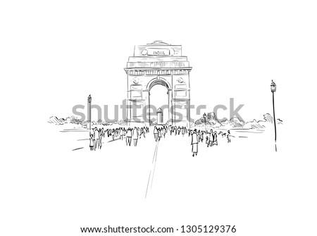 india gate new delhi india
