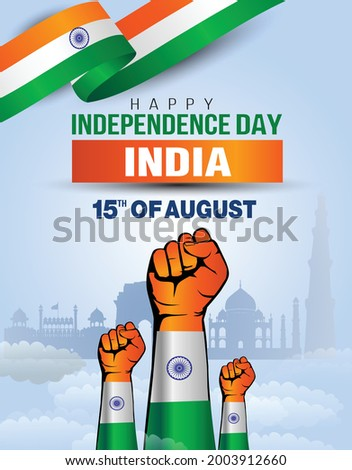 india happy independence day ,15th august Vector Illustration. Flag of Pakistan hand design.