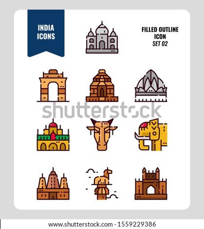 india icon set 2 include india