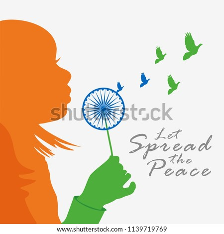 India Independence day, A girl giving message