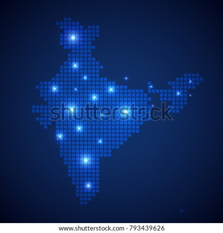 India map page symbol for your web site design India map logo, app, UI. Wire frame 3D mesh polygonal network line, design sphere, dot and structure. India map.vector illustration eps 10