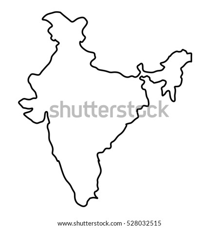 india map silhouette