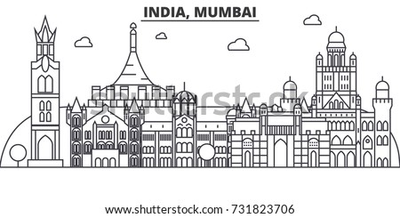 india  mumbai architecture line