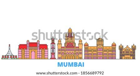 india  mumbai 2 line cityscape