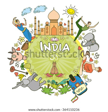 india  set india color vector