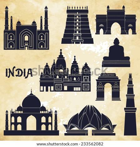india vector illustration