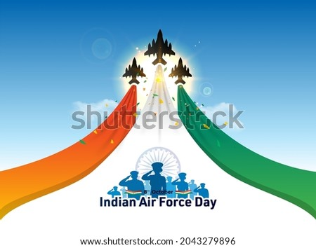 Indian Air Force Day celebration background