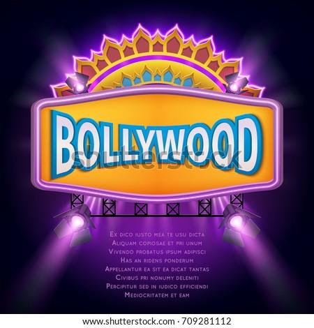 indian bollywood cinema vector