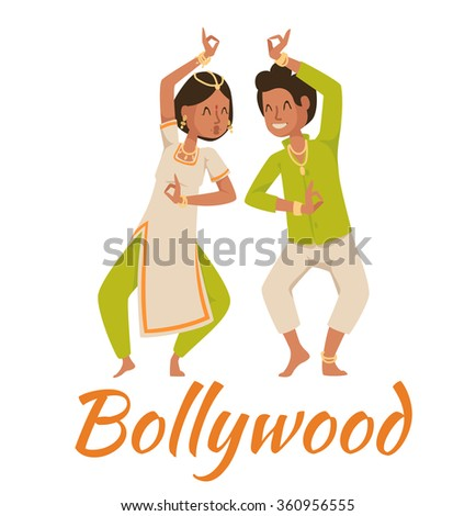 indian bollywood couple dancing