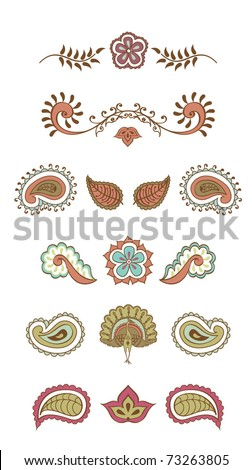 Indian Color Symbol Stock Vector 73263805 : Shutterstock