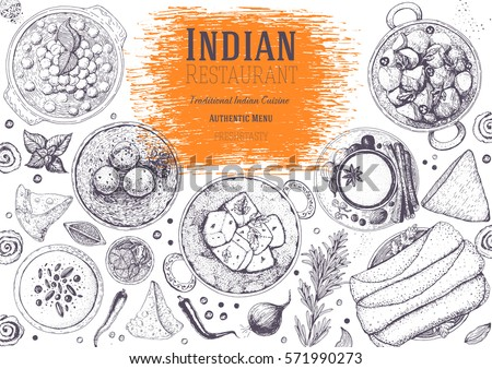 Vector images illustrations and cliparts indian cuisine for Art of indian cuisine