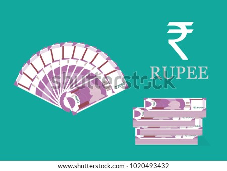 Indian Currency vector illustration