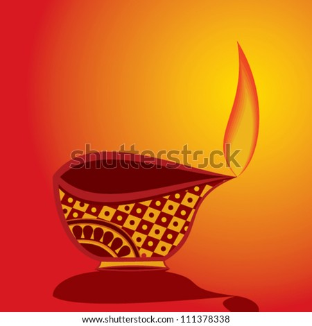 indian diya stock vector